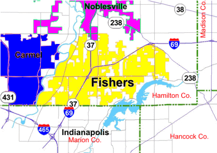 Fishers Map